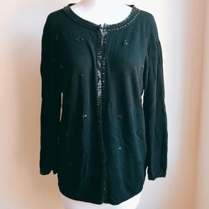 Finity Women Embellished Knit Cardigan with Beads